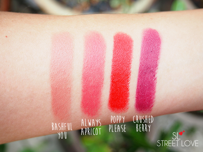 Mary Kay Gel Semi-Matte Lipstick Swatches