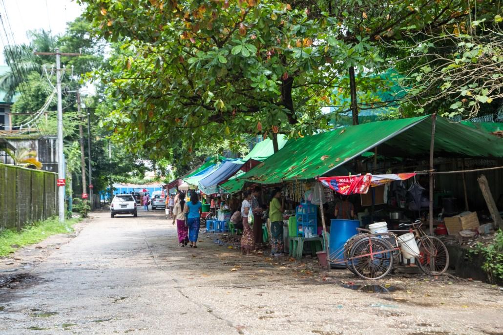 Myanmar local street