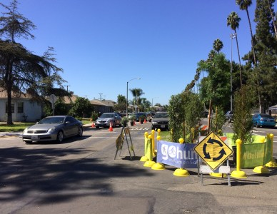 Street Plans Implements Temporary Bike Boulevard in Long Beach, CA
