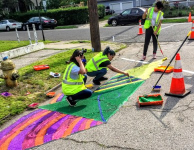 Street Plans Helped Youth Leaders Design & Build Curb Extensions in Bridgeport, CT