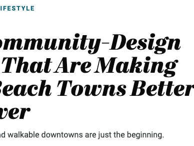 Community-Design Trends in Coastal Towns