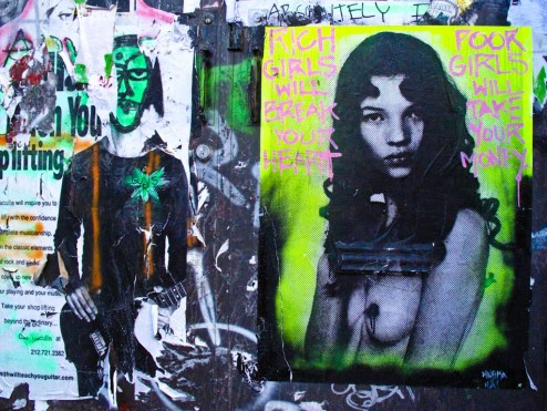 kate moss poster art in SoHo NYC & Hacula.