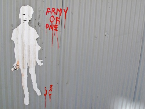 street art by jc2 aka army of one featuring diane arbus