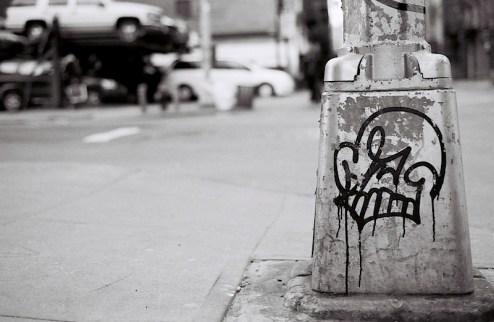 street art by Katsu in NYC