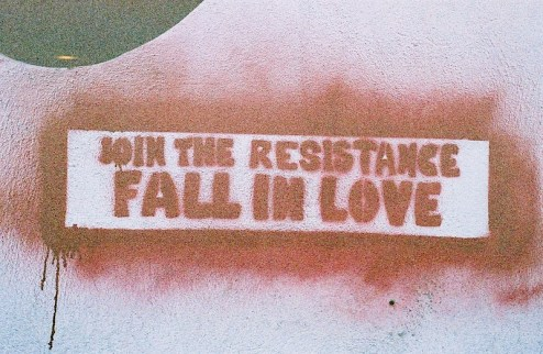 Join the resistance, fall in love street art found in NYC