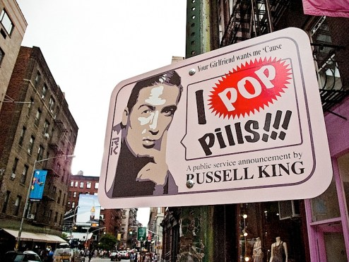 Street art by russell king in SoHo NYC