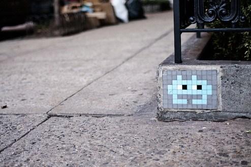 space invader street art