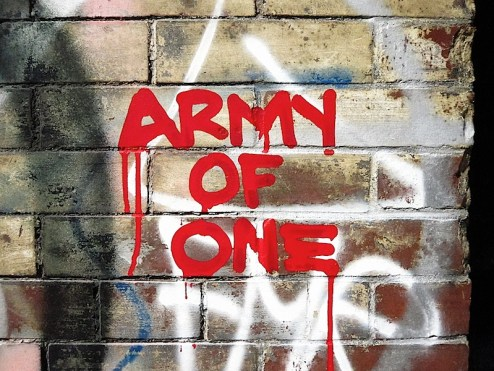 army of one street art in nyc