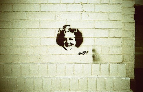 betty white gilf street art in NYC