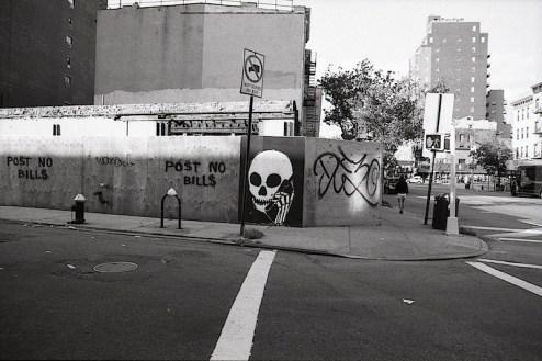 street art by skullphone in NYC