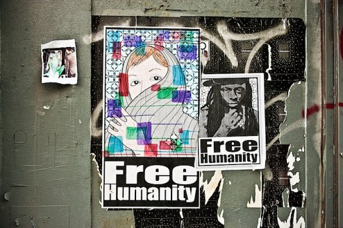 free humanity street art in NYC