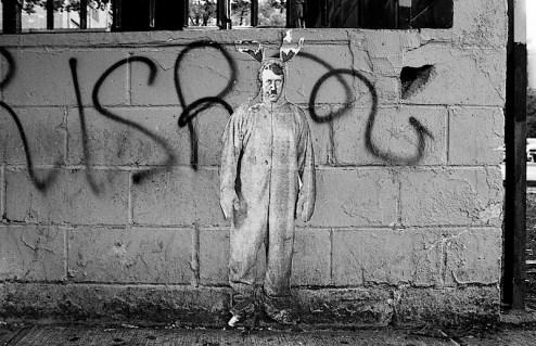 Hitler Bunny Street art in NYC