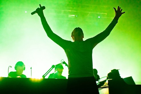 Karl Hyde from Underworld performs at the Roseland Ballroom in NYC