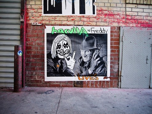 haculla and freddy kruger lives street art
