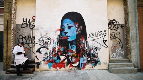 street art by hush in NYC