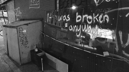 it was broken anyway street art by jim joe in NYC