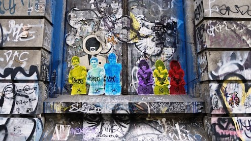 street art on the bowery by infoe