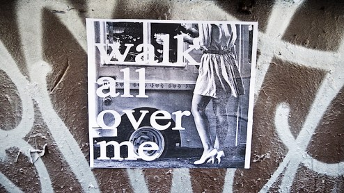 walk all over me street art in NYC