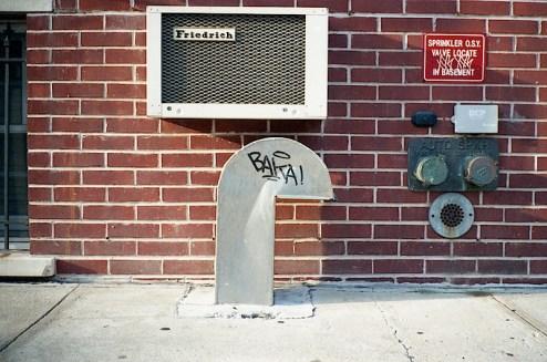graffiti tag baka found in teh east village of NYC