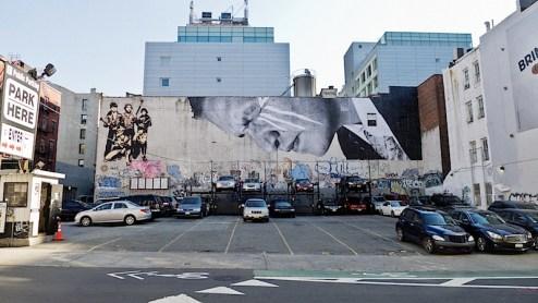 street art by JR in SoHo, NYC