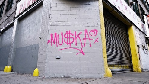 muska graffiti tag in NYC