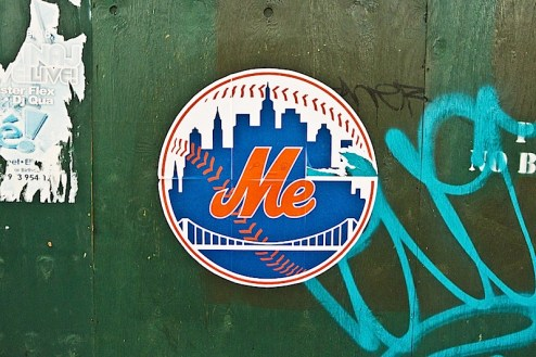 mets street art changed to read me in NYC