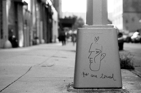 you are loved street art found in NYC