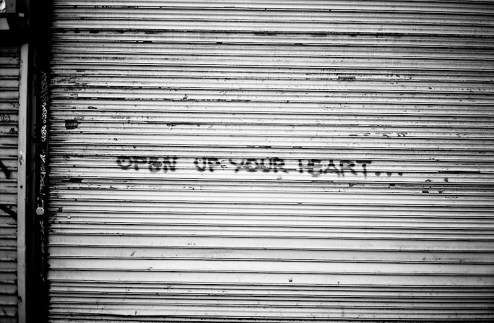 open up your heart graffiti in NYC
