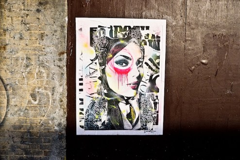 street art by dain in chinatown, nyc