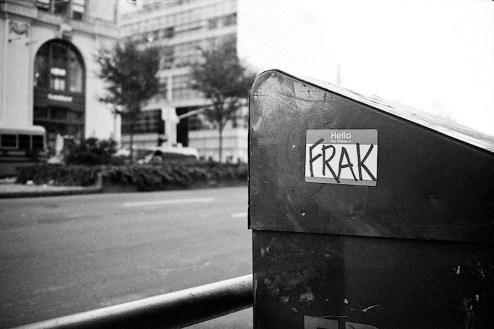 hello my name is frak sticker found on houston street in nyc