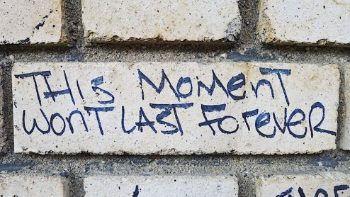 this moment won't last forever graffiti found in nyc