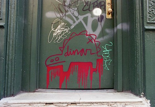 graffiti by dinar in the east village of NYC