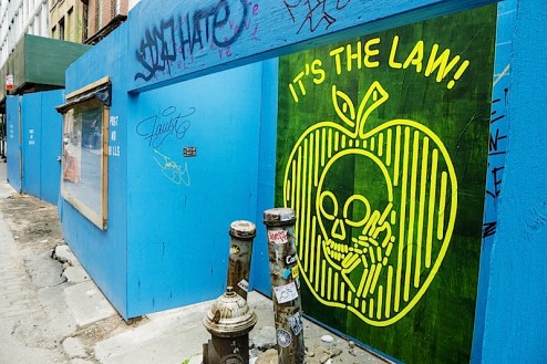 street art by skullphone, love me, faust, the love child and more in SoHo, NYC