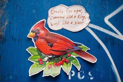create like a god, command like a king, work like a slave by dab street art