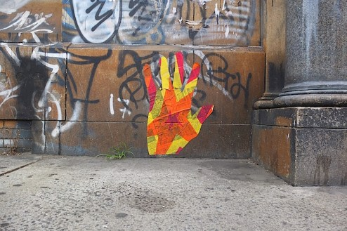 possible loguns run inspired street art found on the bowery in NYC