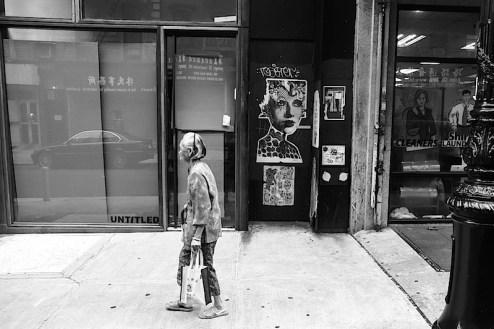 Dain street art found in Chinatown, NYC