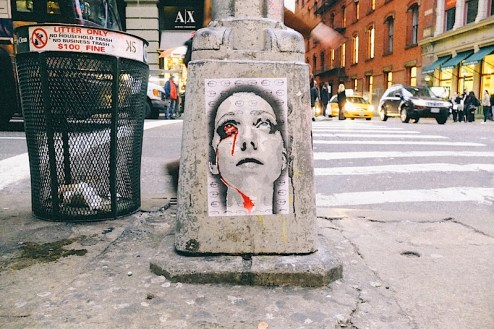 street art by last witness found in SoHo, NYC