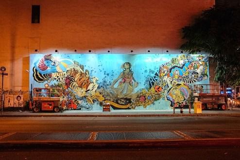 street art by swoon on houston street in nyc