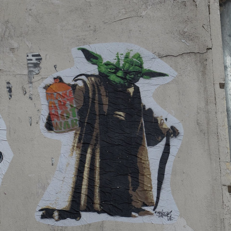 May the graffiti be with you