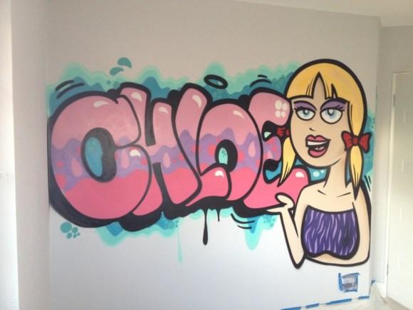 Chloe's Bedroom Art by RJ Skary