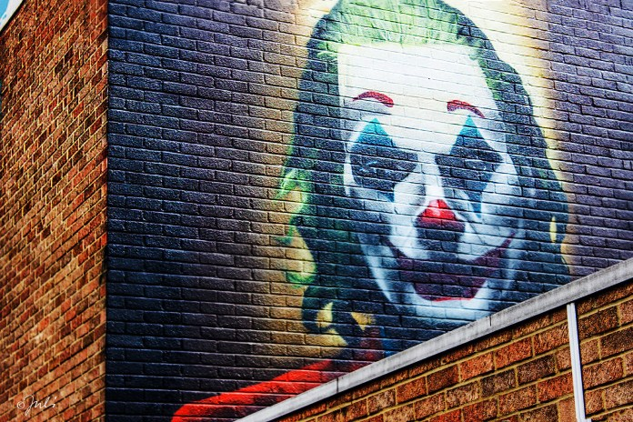 #Joker portrait - #StreetArt by #GRAFFITILIFE in #London, #England