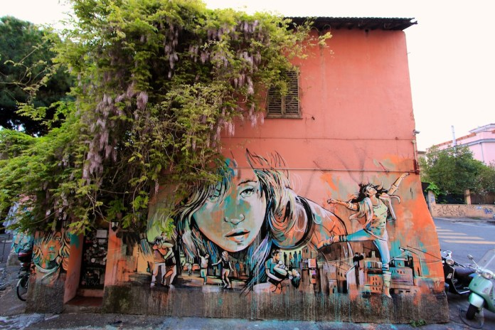 Street Art by Alice in Rome, Italy