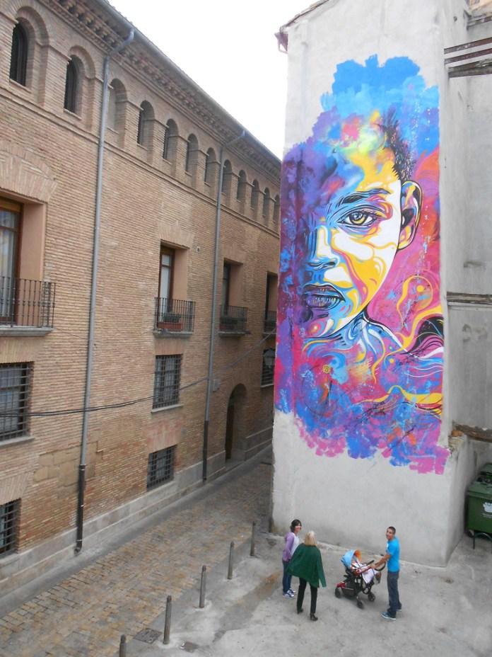 By C215 in Tudela, Navarra, Spain