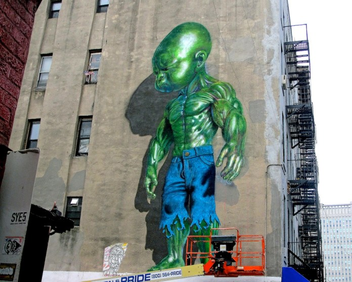 Street Art by Ron English in New York, USA