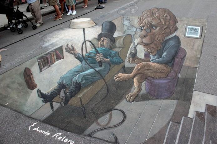 Street Art in 3D by Eduardo Relero – At Sarasota Chalk Festival