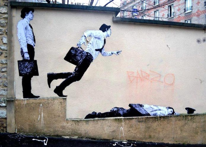 Street Art by Levalet – In Paris, France