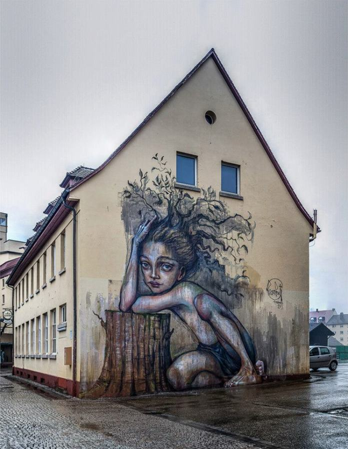 """What Was Before Is In Us – Still"" By Herakut in Freiburg, Germany"