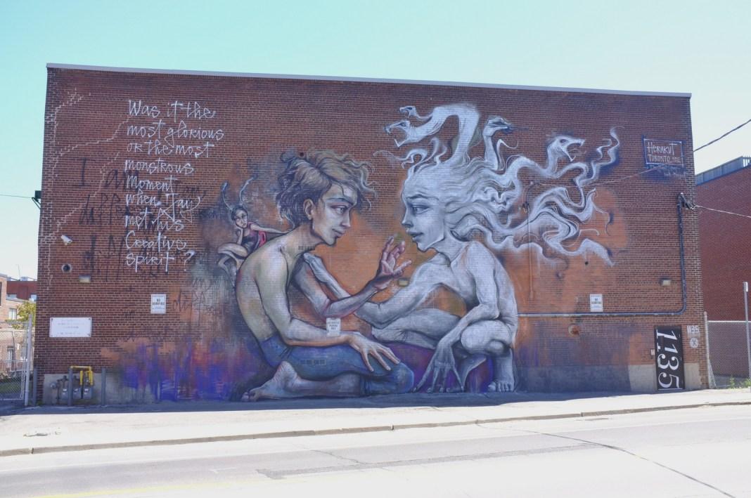 Street Art by Herakut in Toronto, Canada
