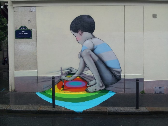 Street Art by Seth in Paris, France