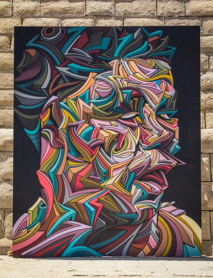 By Shaka at the Sliema Street Art Festival. Photo by Asperholm Productions in Sliema, Malta